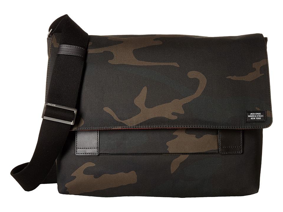Jack Spade - Camo Waxwear Field Messenger (Camo) Messenger Bags