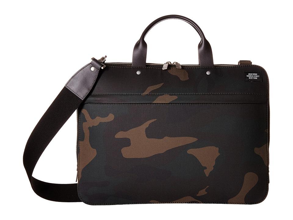 Jack Spade - Camo Waxwear Slim Brief (Camo) Briefcase Bags