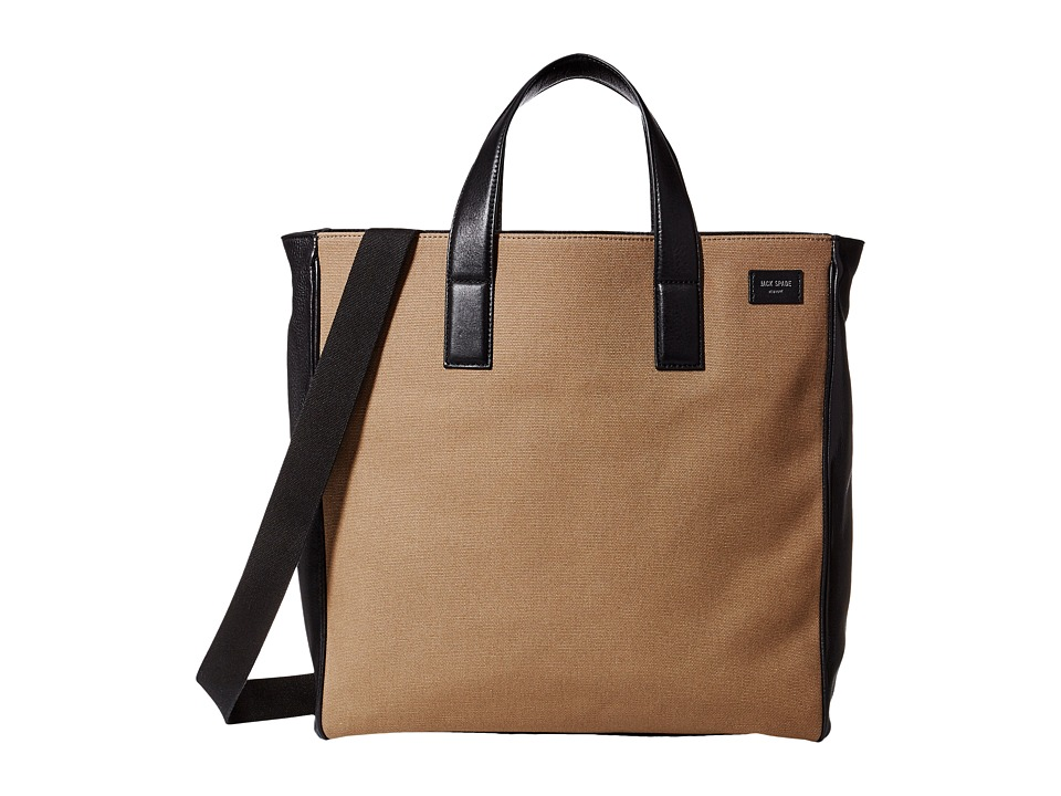 Jack Spade Industrial Canvas and Leather Tote Shitake Tote Handbags