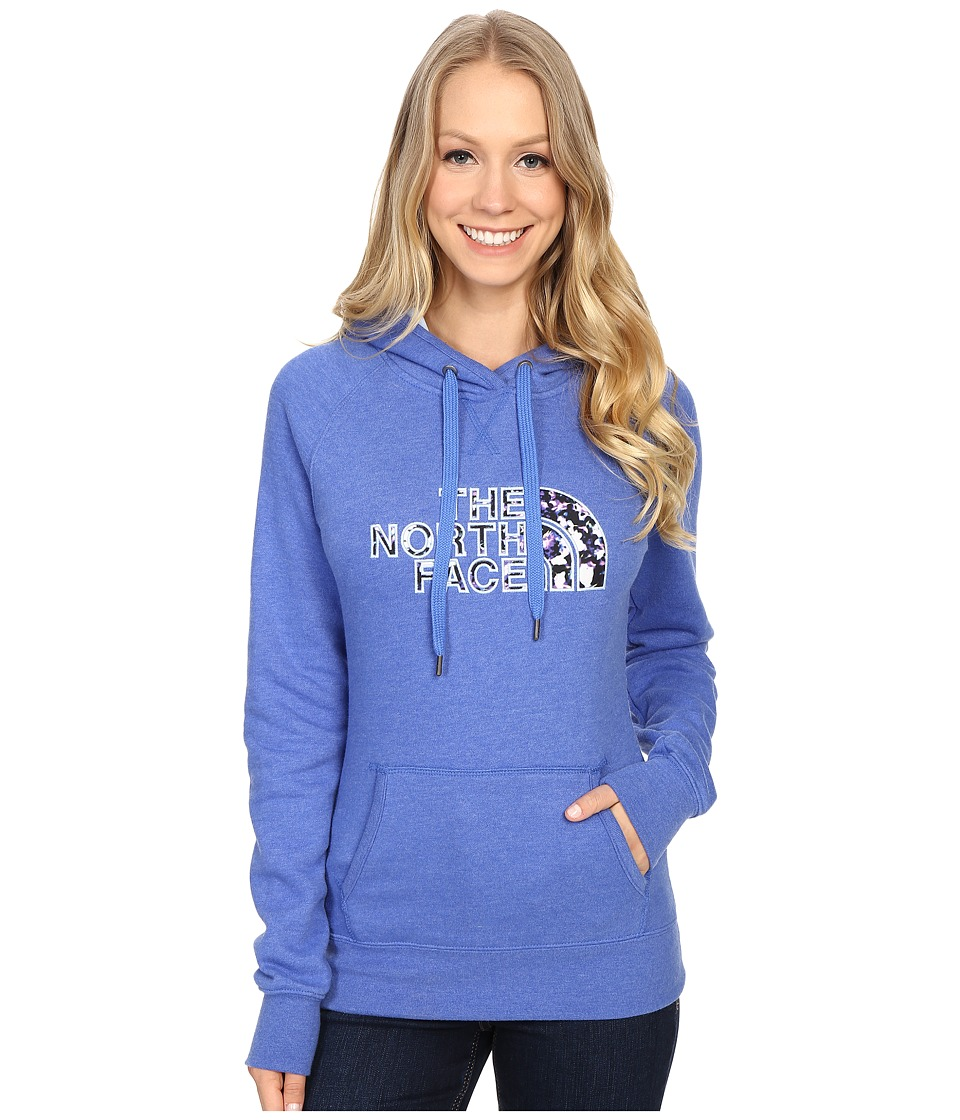 The North Face Avalon Crystal Floral Pullover Hoodie Coastline Blue Heather Womens Sweatshirt