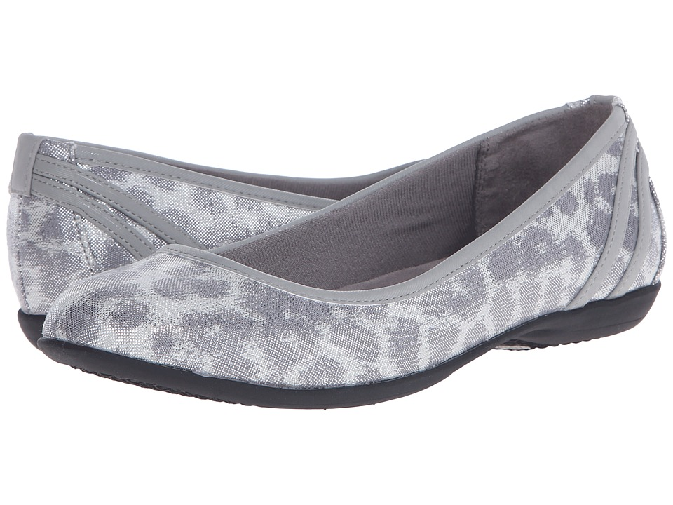 LifeStride Airy Silver/Slate Disco Leopard/Elf Womens Flat Shoes