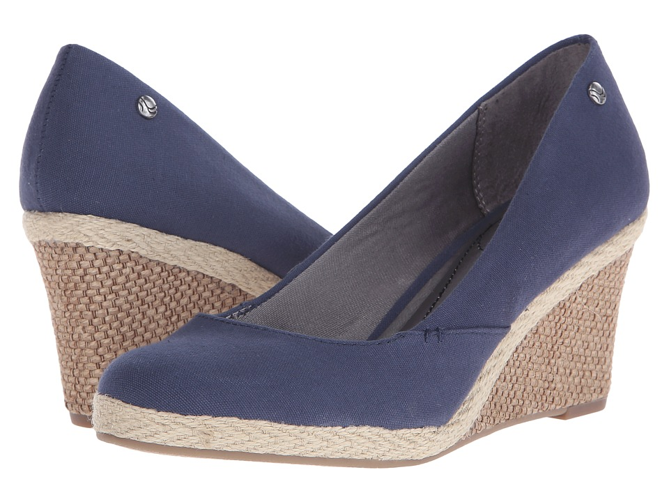 LifeStride Clementine Navy Womens Wedge Shoes