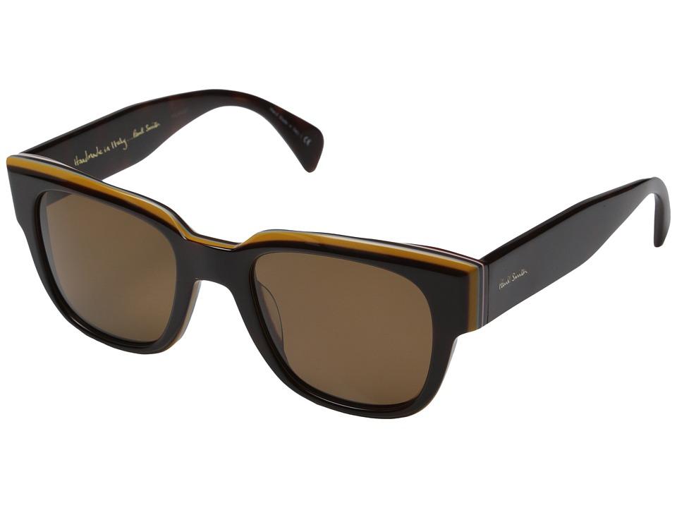 Paul Smith Eamont Deluxe Tortoise Stripe/Brown Polarized Fashion Sunglasses