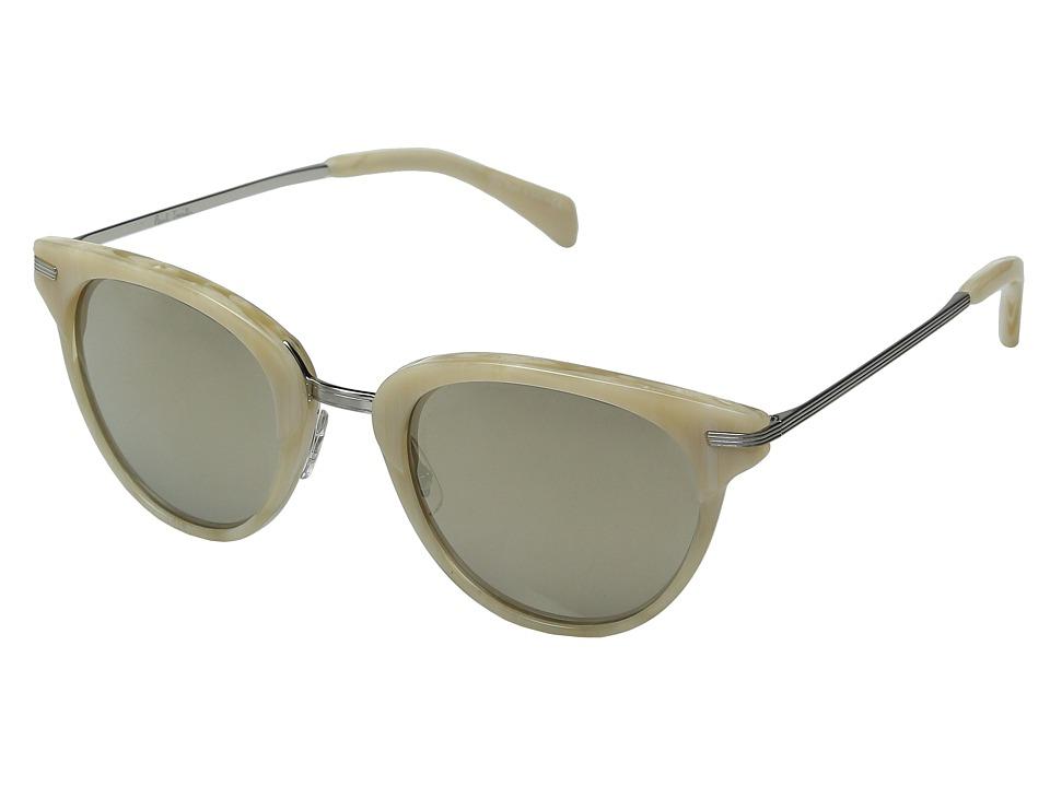 Paul Smith Jaron Beige Silk/Brushed Silver/Taupe Flash Mirror Fashion Sunglasses