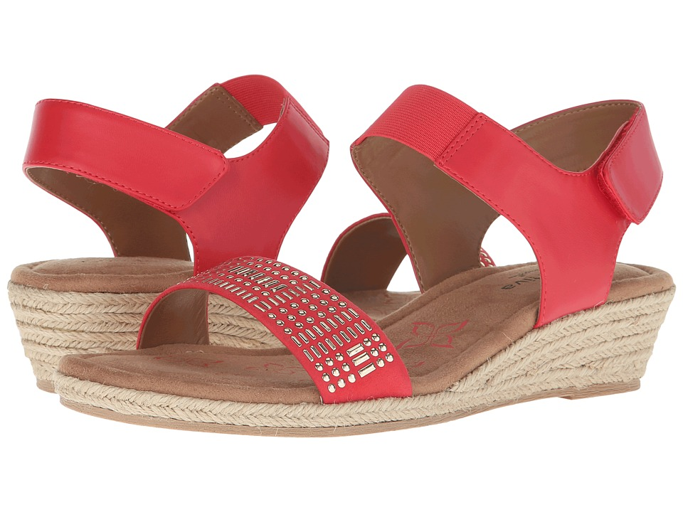 Comfortiva Beck Coral Sheep Nappa PU Womens Wedge Shoes