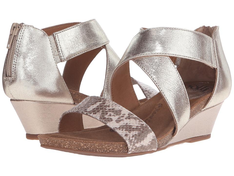 Sofft Vallar Satin Gold/Sand Grid/Viper Desert Flex Womens Wedge Shoes