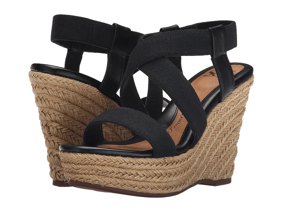 Sofft Perla Black Cow Quilin/Elastic High Heels