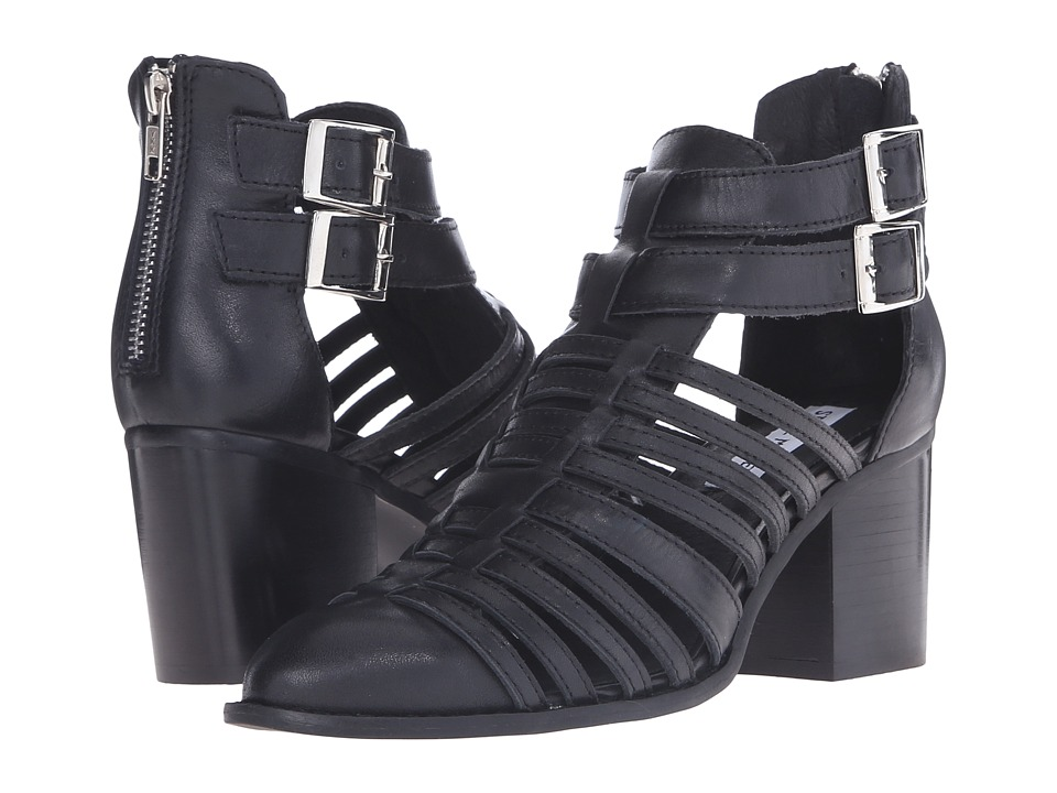 Steve Madden Frenchey Black Leather High Heels