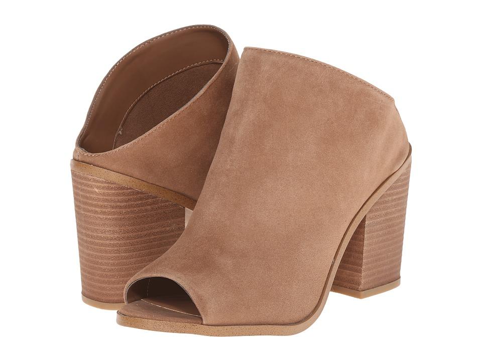 Steve Madden Nollla Tan Suede Womens Clog/Mule Shoes