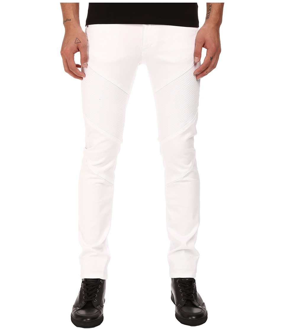 Versace Collection Stretch Motor Panel Pants White Mens Casual Pants