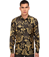 Versace Collection - Iconic Baroque Print Silk Button Up