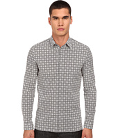 Versace Collection - Crisscross Print Stretch Button Up