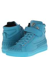 Versace Collection - Woven Leather Hi-Top Sneaker