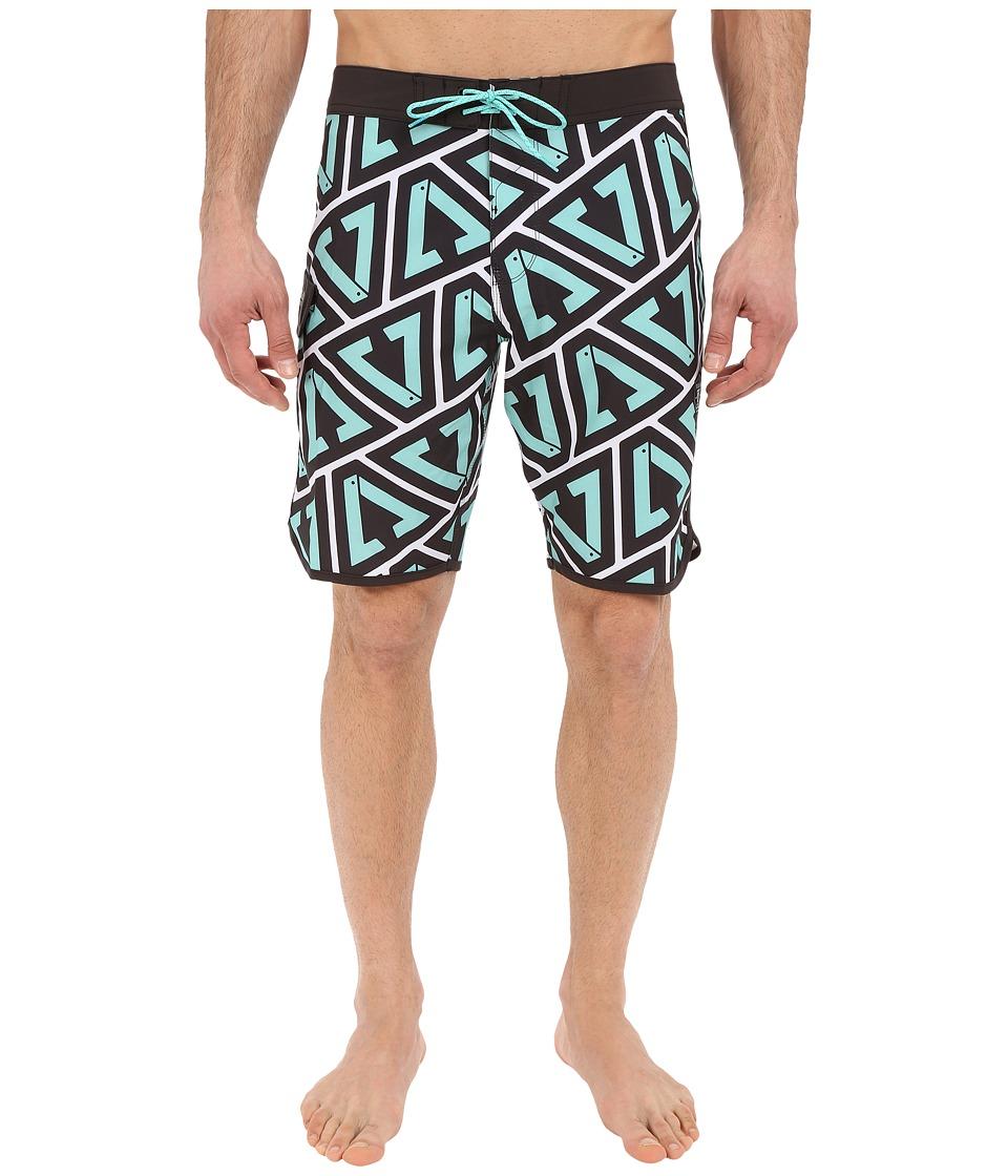 VISSLA Calipher 4 Way Stretch Boardshorts 20 Jade Mens Swimwear