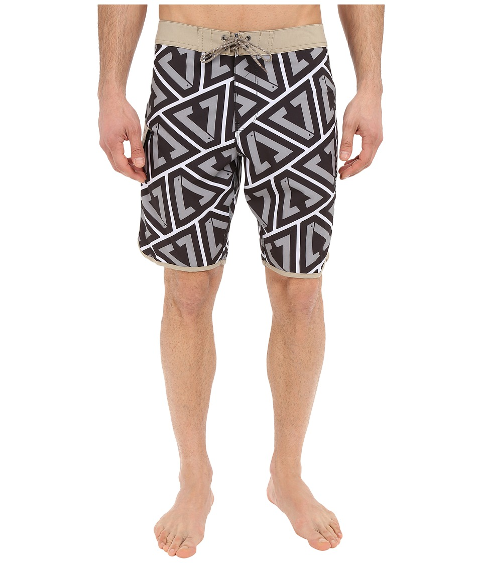VISSLA Calipher 4 Way Stretch Boardshorts 20 Grey Mens Swimwear