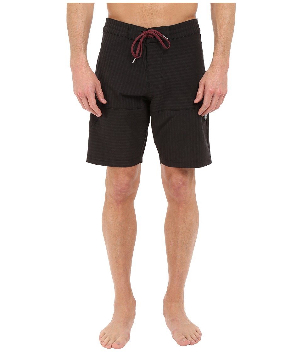 VISSLA Cape Cross 4 Way Stretch Boardshorts 20 Black Mens Swimwear