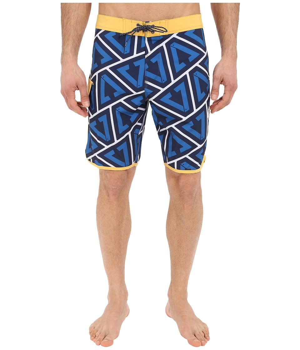 VISSLA Calipher 4 Way Stretch Boardshorts 20 Royal Wash Mens Swimwear