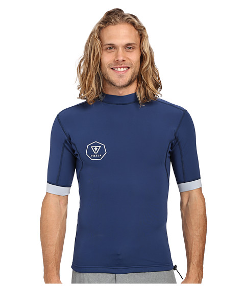 VISSLA Performance Jacket Short Sleeve 1mm Neoprene Super Stretch - Navy