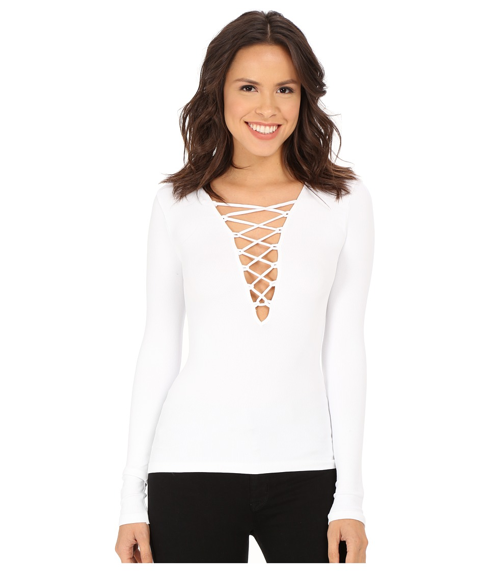 Free People - Lace-Up Layering Tee (White) Women