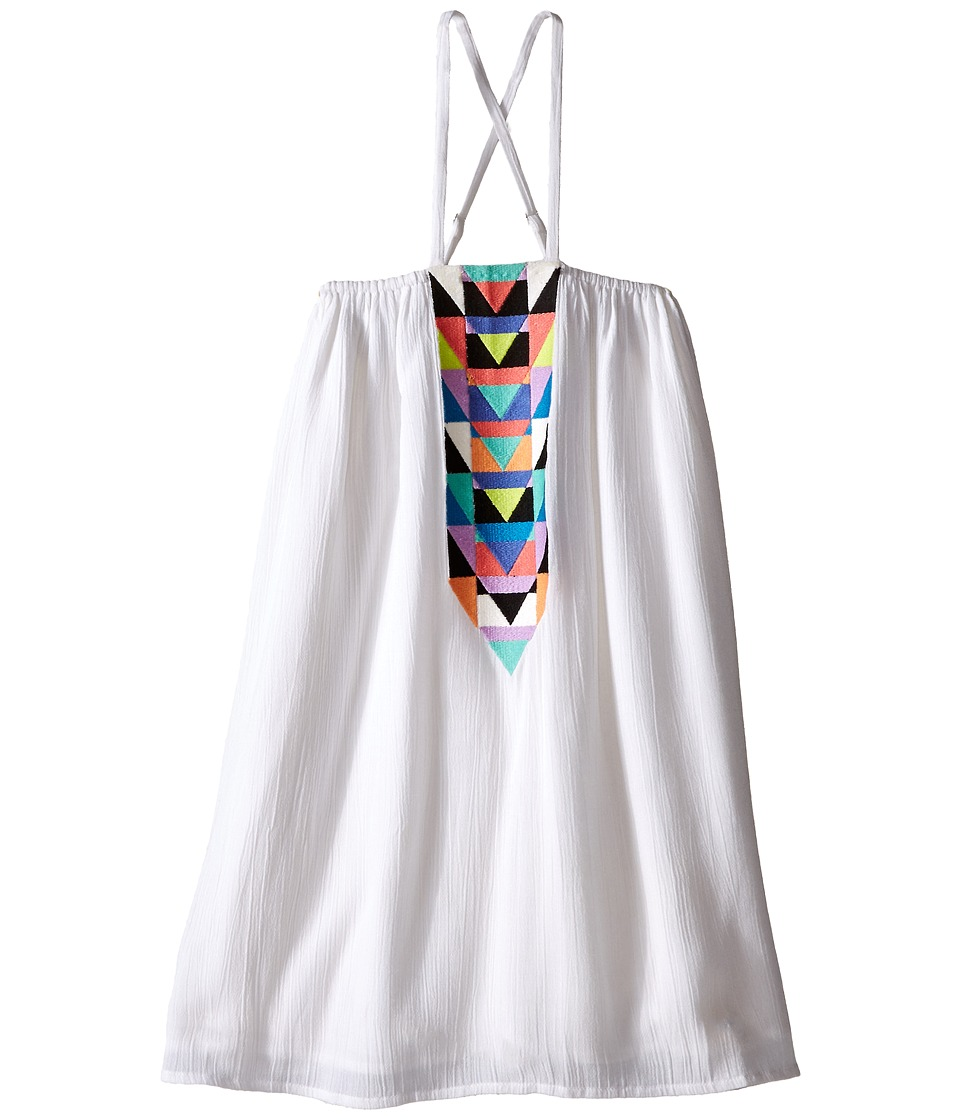 Mara Hoffman Kids Embroidered Cross Back Dress Toddler/Little Kids/Big Kids White Girls Dress
