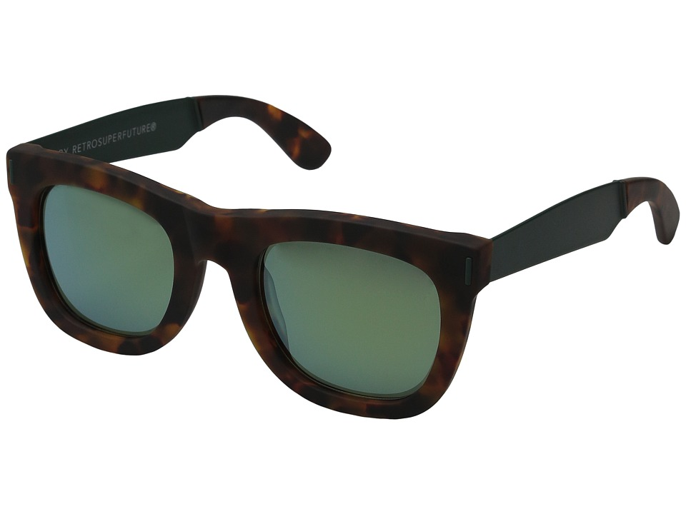 Super Ciccio Francis Squadra Tortoise/Green Fashion Sunglasses