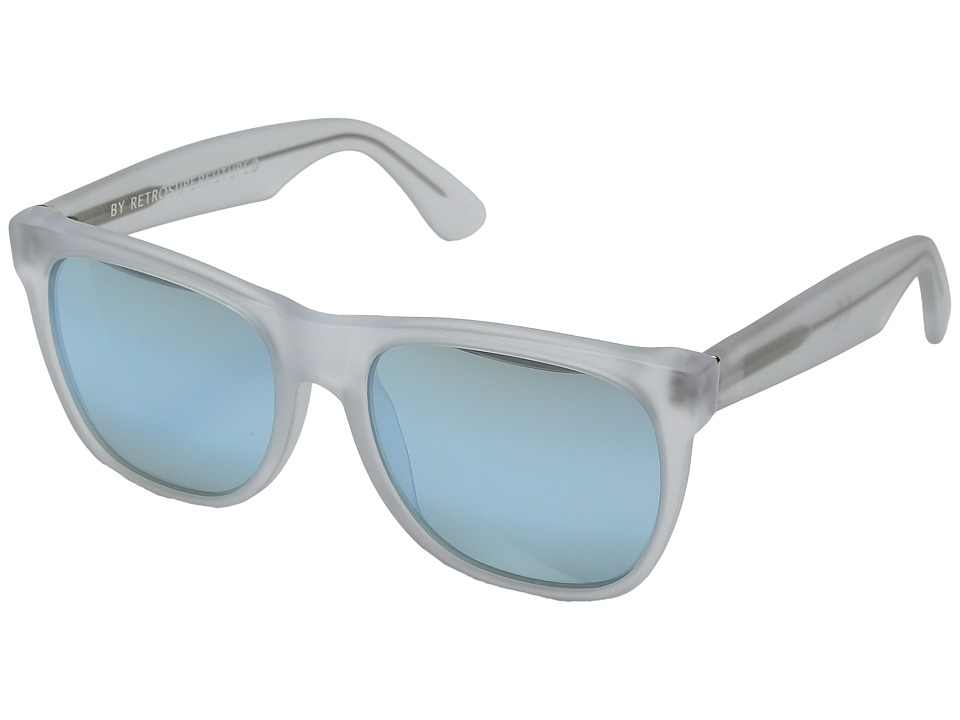 Super Classic 50M Matte Ice/Gradient Blue Mirror Fashion Sunglasses