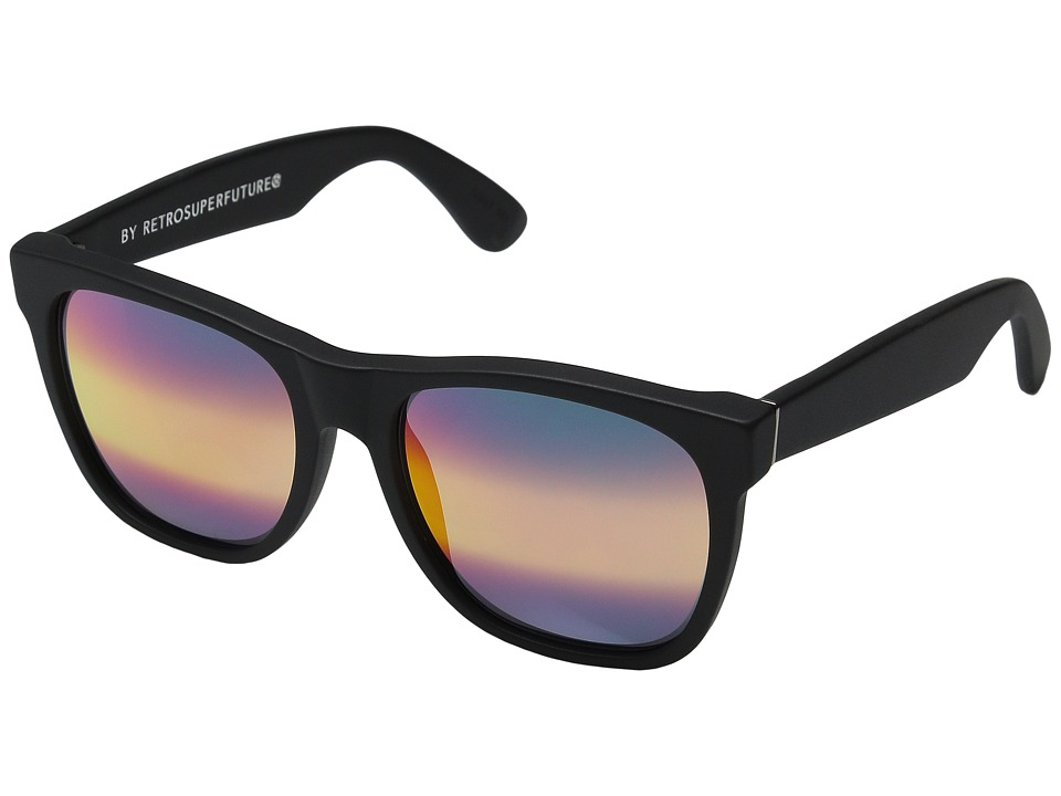 Super Classic M3 Black Matte/Rainbow Ombre Mirror Fashion Sunglasses
