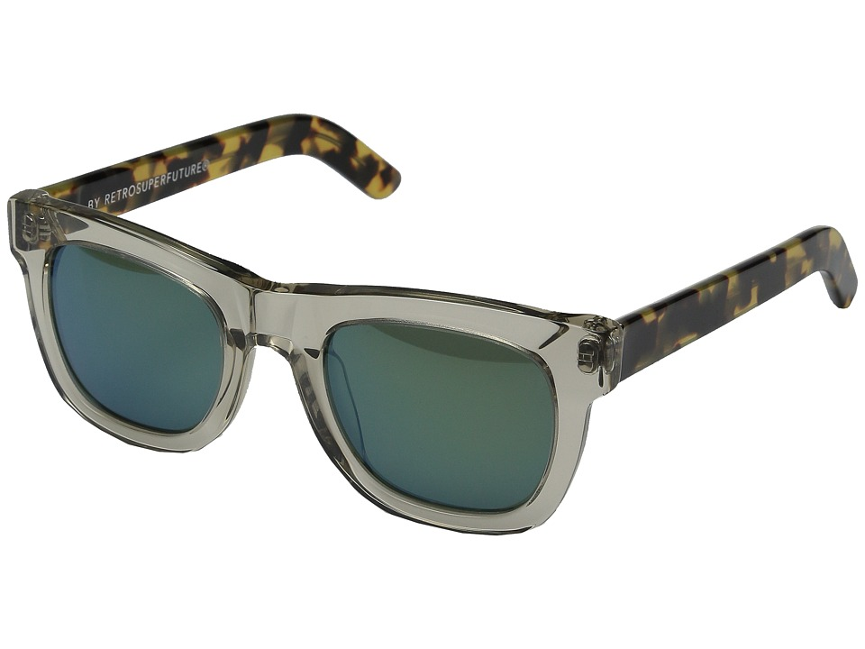 Super Ciccio Sportivo Clear/Tortoise/Green Fashion Sunglasses