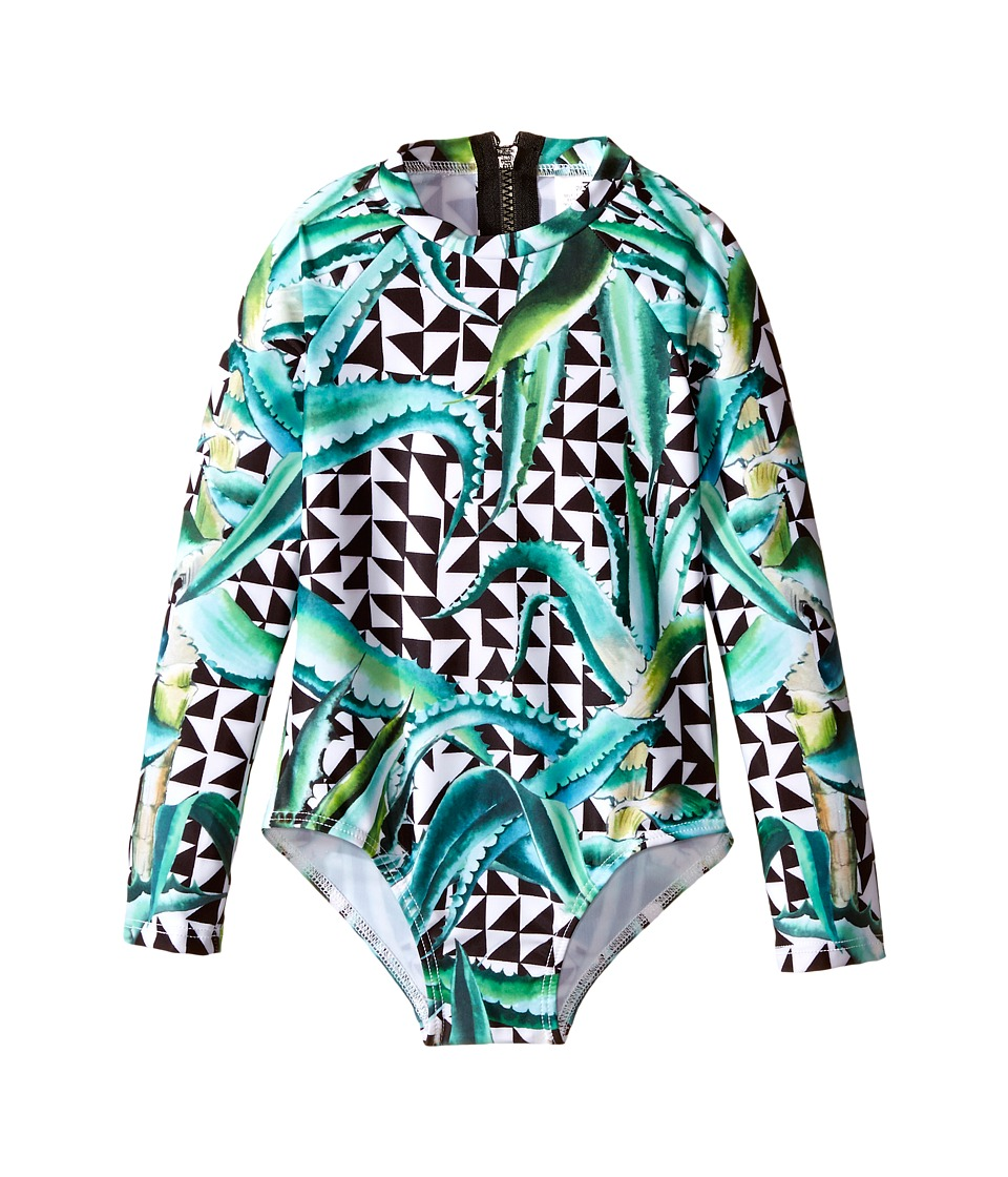 Mara Hoffman Kids Aloe Printed Rashguard Swimsuit Toddler/Little Kids/Big Kids Green Girls Swimsuits One Piece