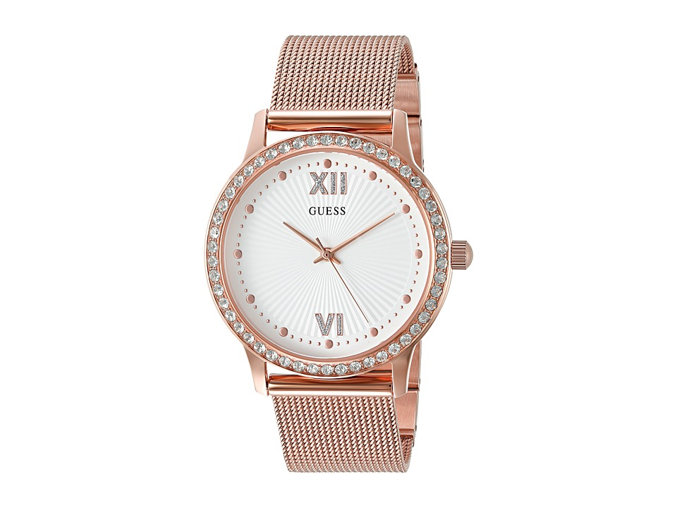 GUESS - U0766L3 (Rose Gold/White) Watches