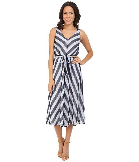 Tommy Bahama - Chateau Stripe Midi Dress (Ocean Deep) Women's Dress