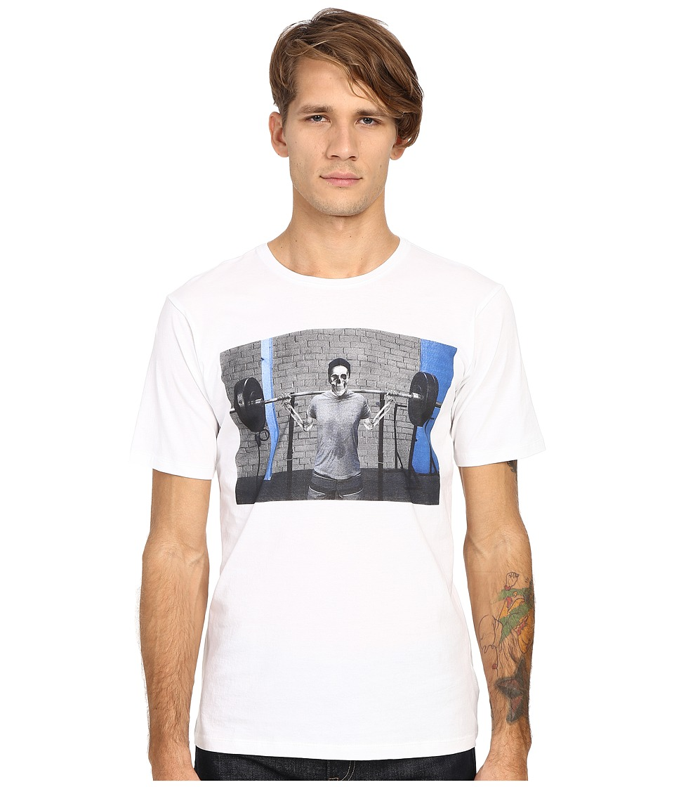The Kooples Sport Slub Jersey Printed Tee Shirt White Mens T Shirt