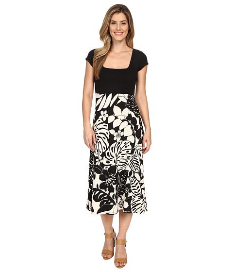 Tommy Bahama - Leaf Relief Midi Dress (Black) Women's Dress