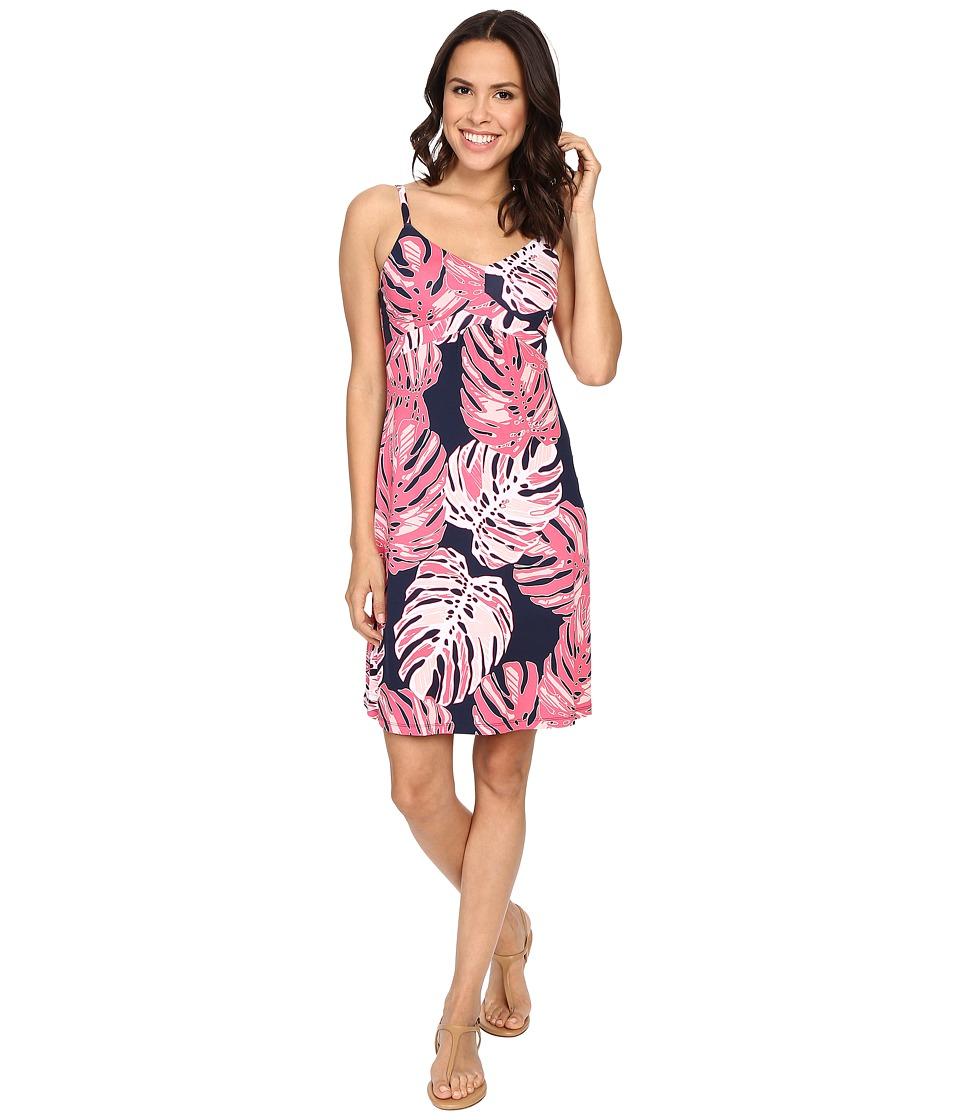 Tommy Bahama Pop Art Palms Short Dress Neon Pink Womens Dress