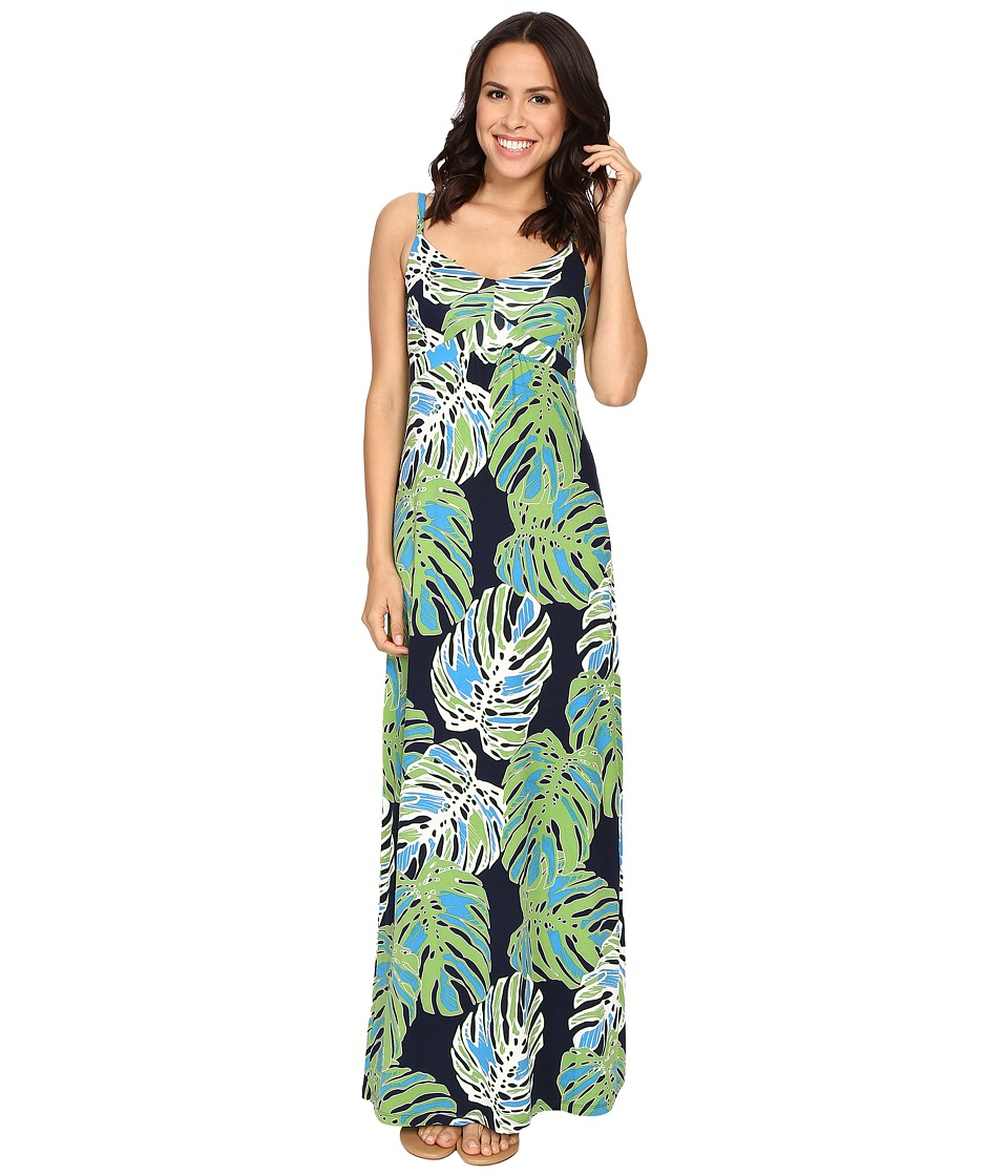 Tommy Bahama Pop Art Palms Long Dress Tropic Jungle Womens Dress