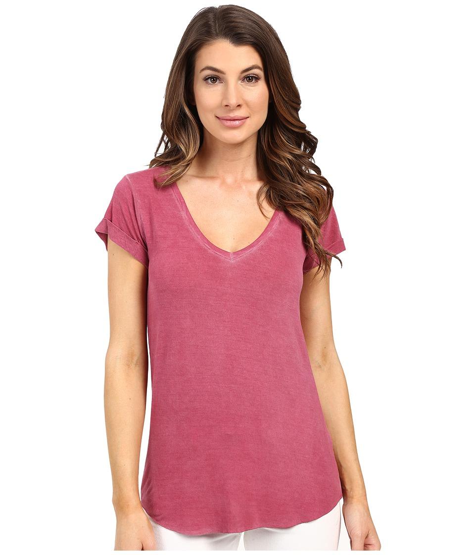 Paige Charlie Tee Vintage Rose Plum Womens T Shirt