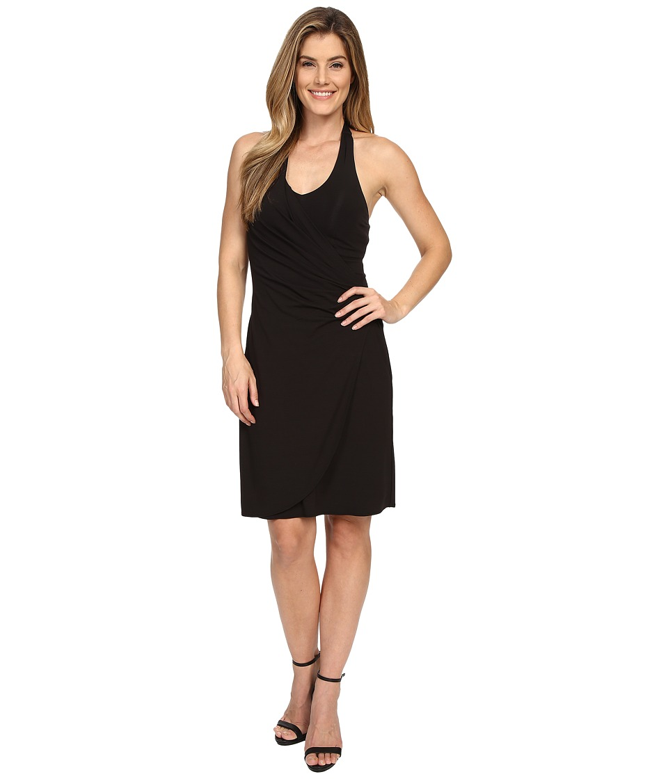 Tommy Bahama Tambour Shirred Halter Dress Black Womens Dress
