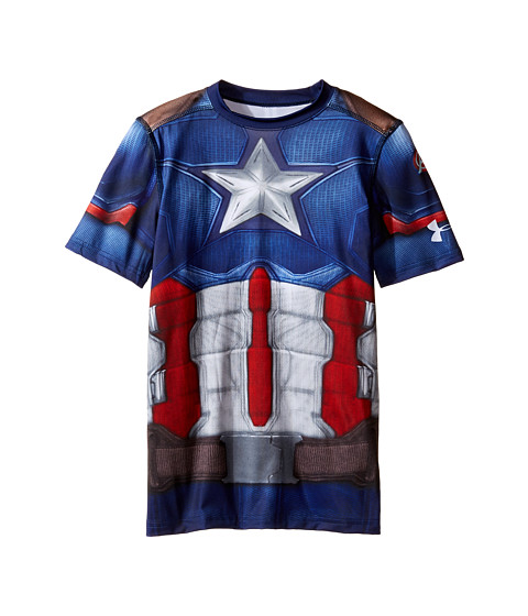 Under Armour Kids Captain America Suit Short Sleeve (Big Kids)