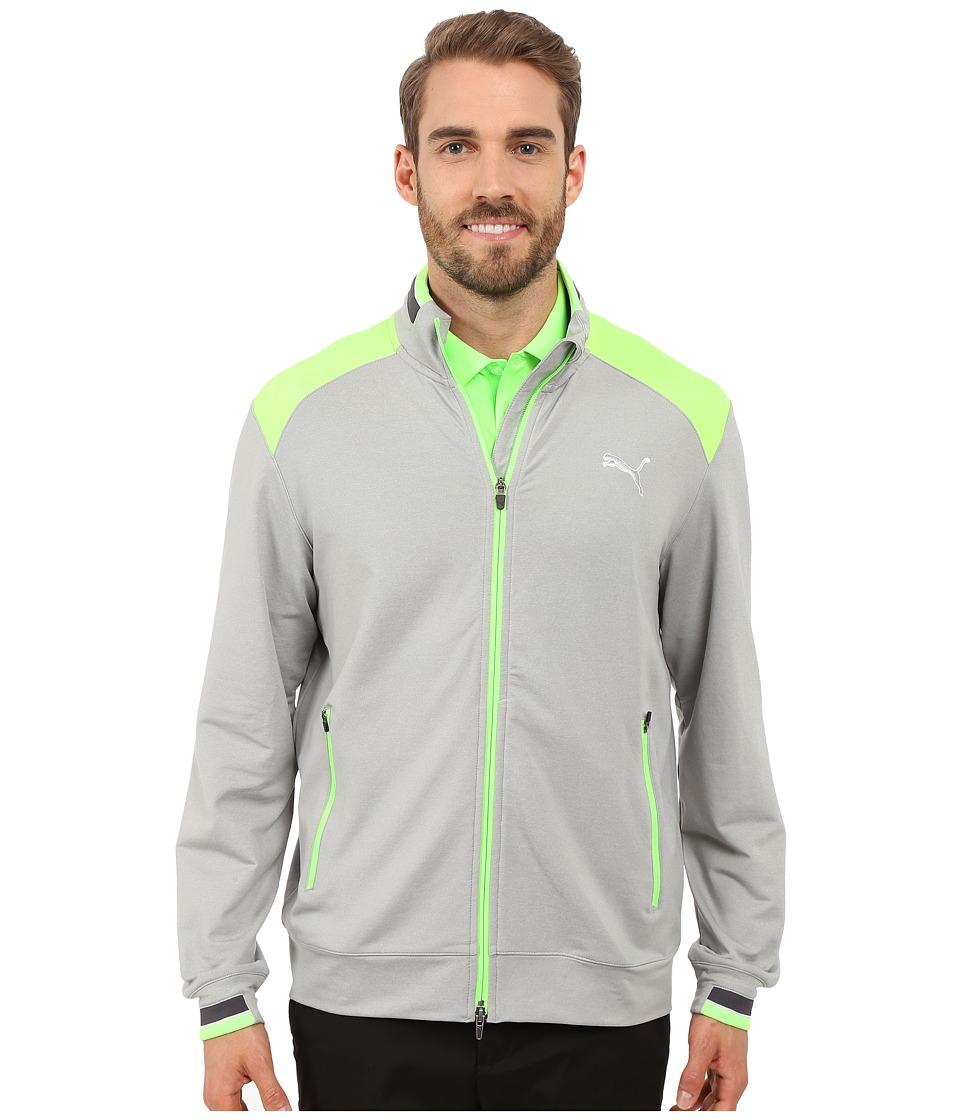 PUMA Golf Golf Track Jacket Light Grey Heather Mens Jacket