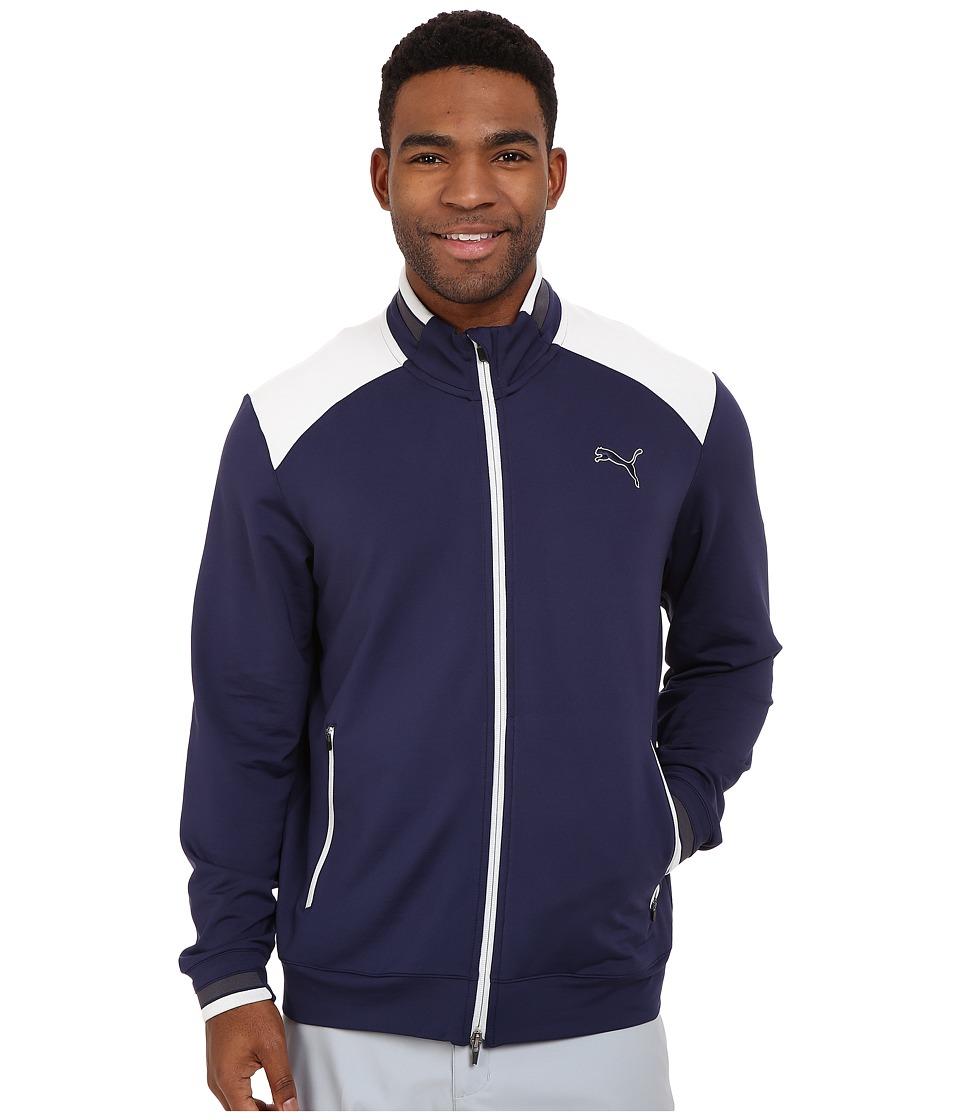 PUMA Golf Golf Track Jacket Peacoat Mens Jacket