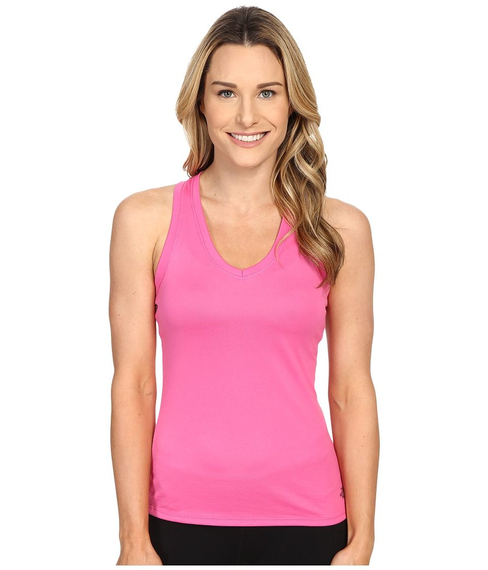 The North Face Reaxion Amp Tank Top Raspberry Rose/Asphalt Grey Womens Sleeveless