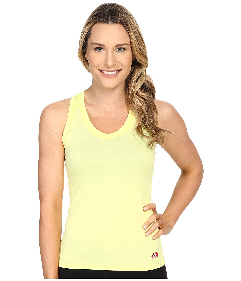 The North Face Reaxion Amp Tank Top Hamachi Yellow/Raspberry Rose Womens Sleeveless