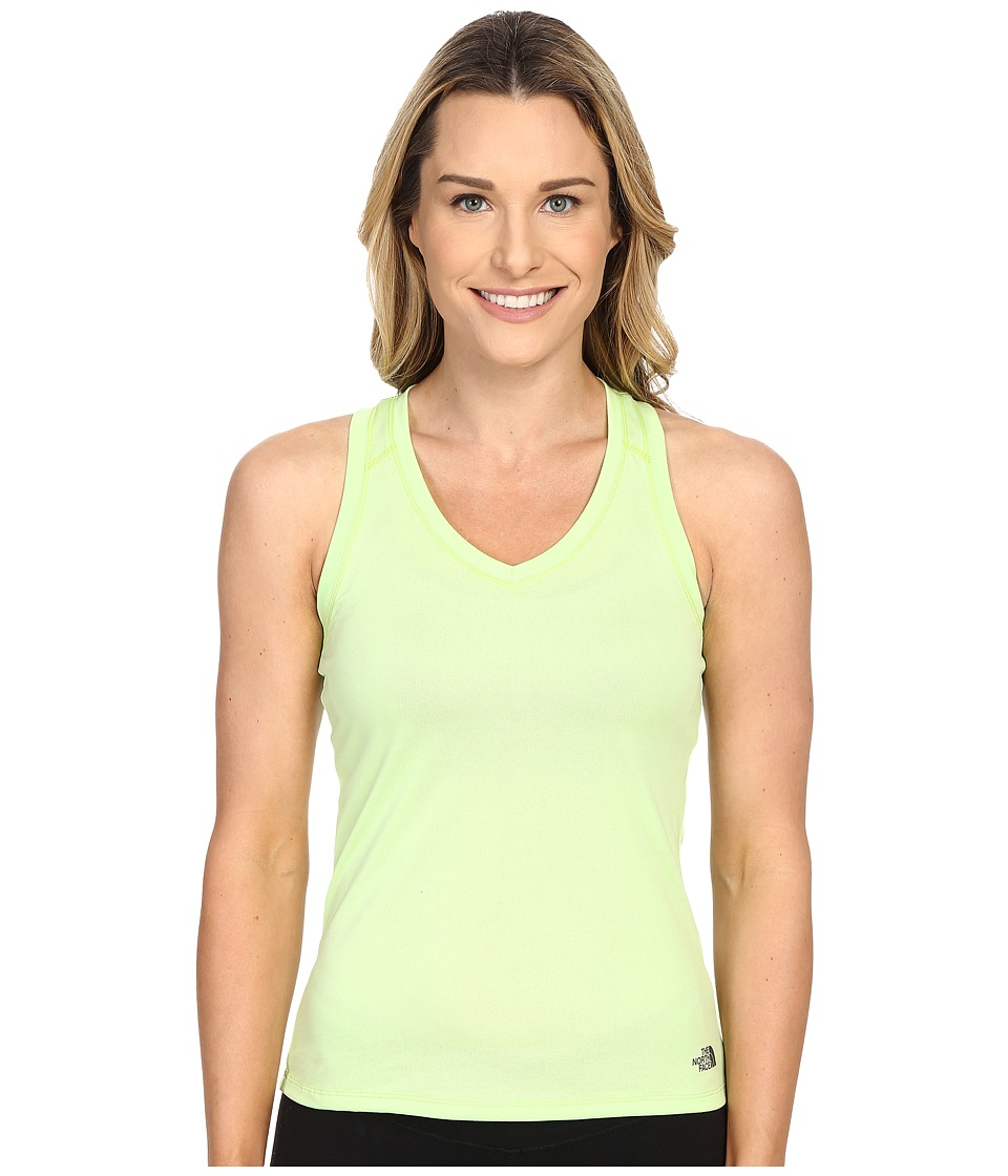 The North Face Reaxion Amp Tank Top Budding Green/Spruce Green Womens Sleeveless