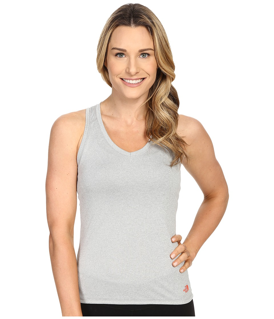 The North Face Reaxion Amp Tank Top TNF Light Grey Heather/Radiant Orange Womens Sleeveless