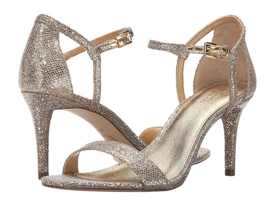 Michael Kors Simone Mid Sandal (Silver/Sand Glitter) Wome...
