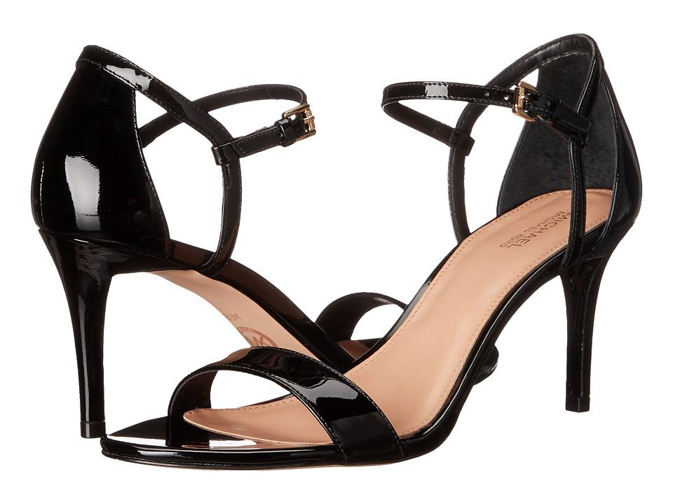 Michael Kors Simone Mid Sandal (Black Patent) Women's San...