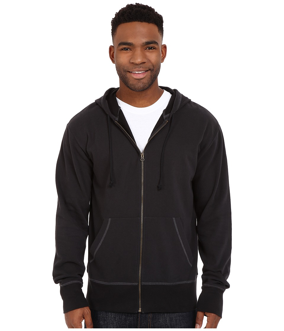 Life is good Circle Wave Go To Zip Hoodie Night Black Mens Sweatshirt