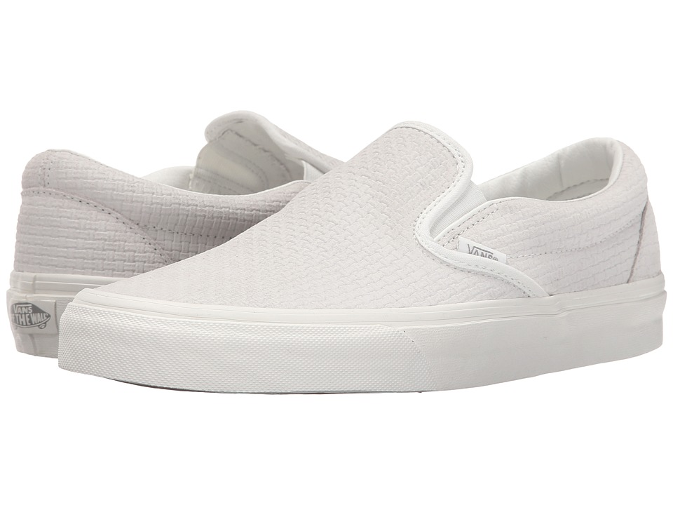 Vans Classic Slip-On ((Braided Suede) Blanc De Blanc) Skate Shoes
