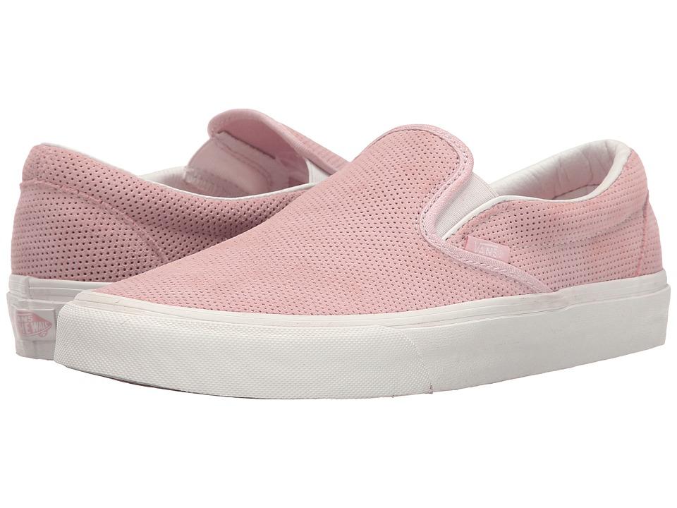 Vans Classic Slip-On ((Perf Suede) Peachskin/Blanc De Blanc) Skate Shoes
