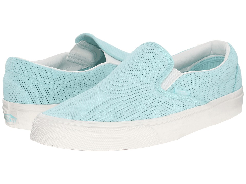 Vans Classic Slip-On ((Perf Suede) Blue Light/Blanc De Blanc) Skate Shoes